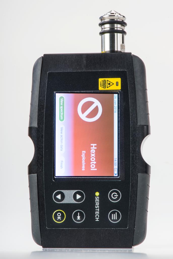 Handheld Raman, Serstech Indicator